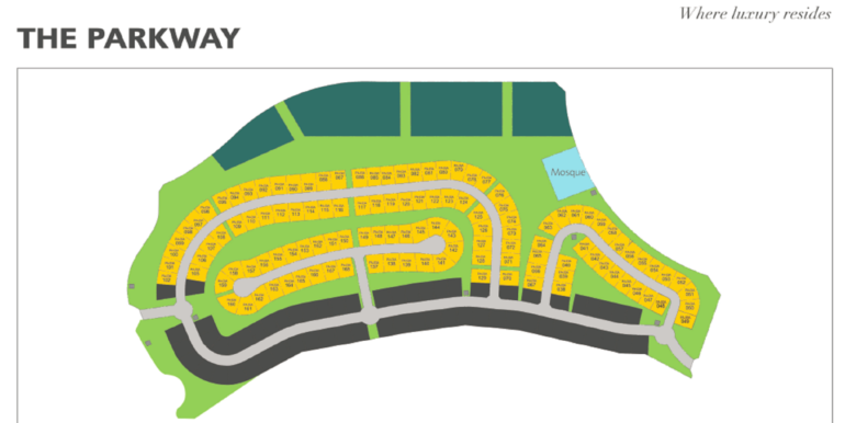 Dubai Hills Parkway Masterplan with disclaimer